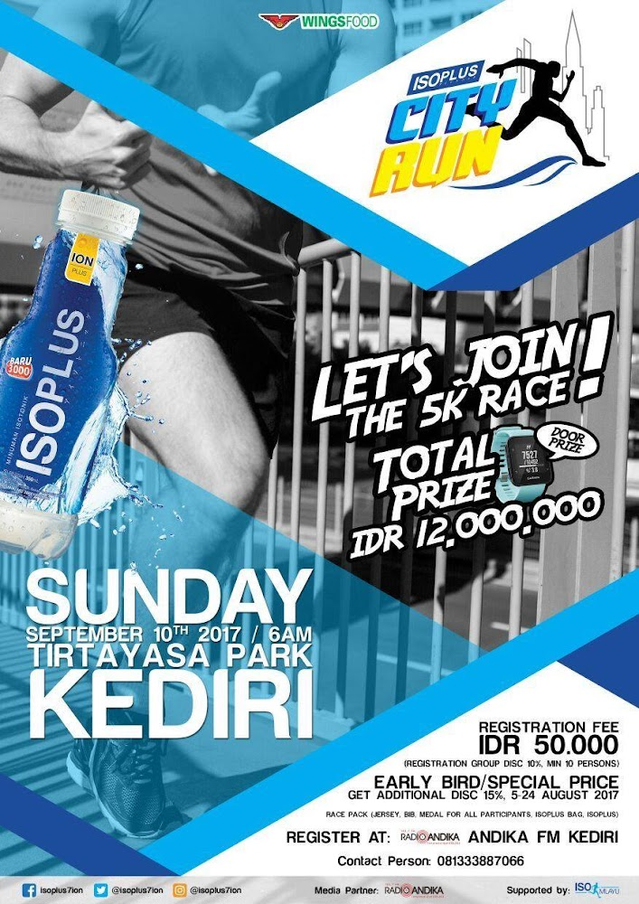 Isoplus City Run - Kediri • 2017