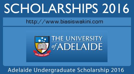 Adelaide Undergraduate Scholarship Program 2016
