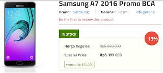 Promo BCA Spesial Harga Samsung Galaxy A7 2016 Rp 5.199.000