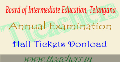 TS inter hall tickets 2018-2019 download telangana ipe 1st 2nd year exams