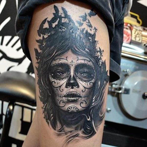 Tatuajes Del Dia De Los Muertos Catrinas Calaveras Y Muertecitos