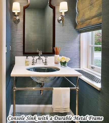 Console Sinks For Small Bathrooms With a Durable Metal frame