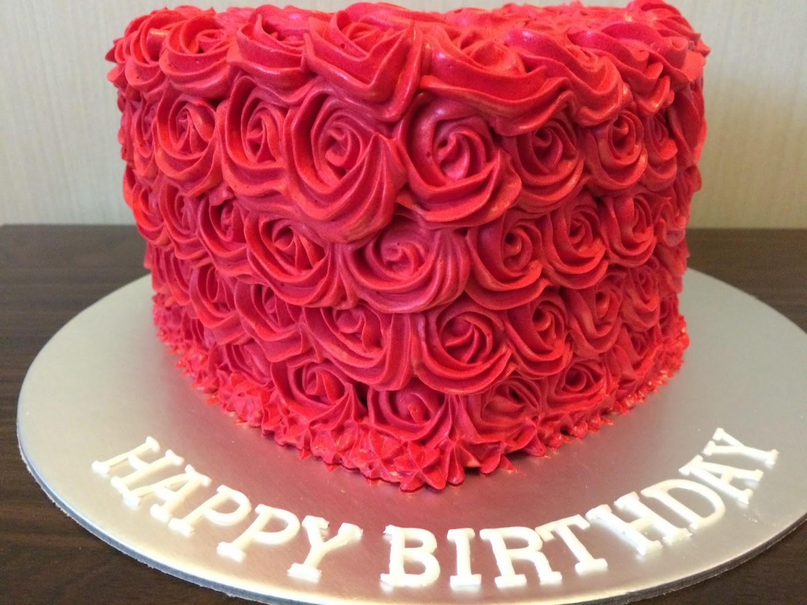 Rose Swirls Heart Birthday Cake Crissa S Cake Corner