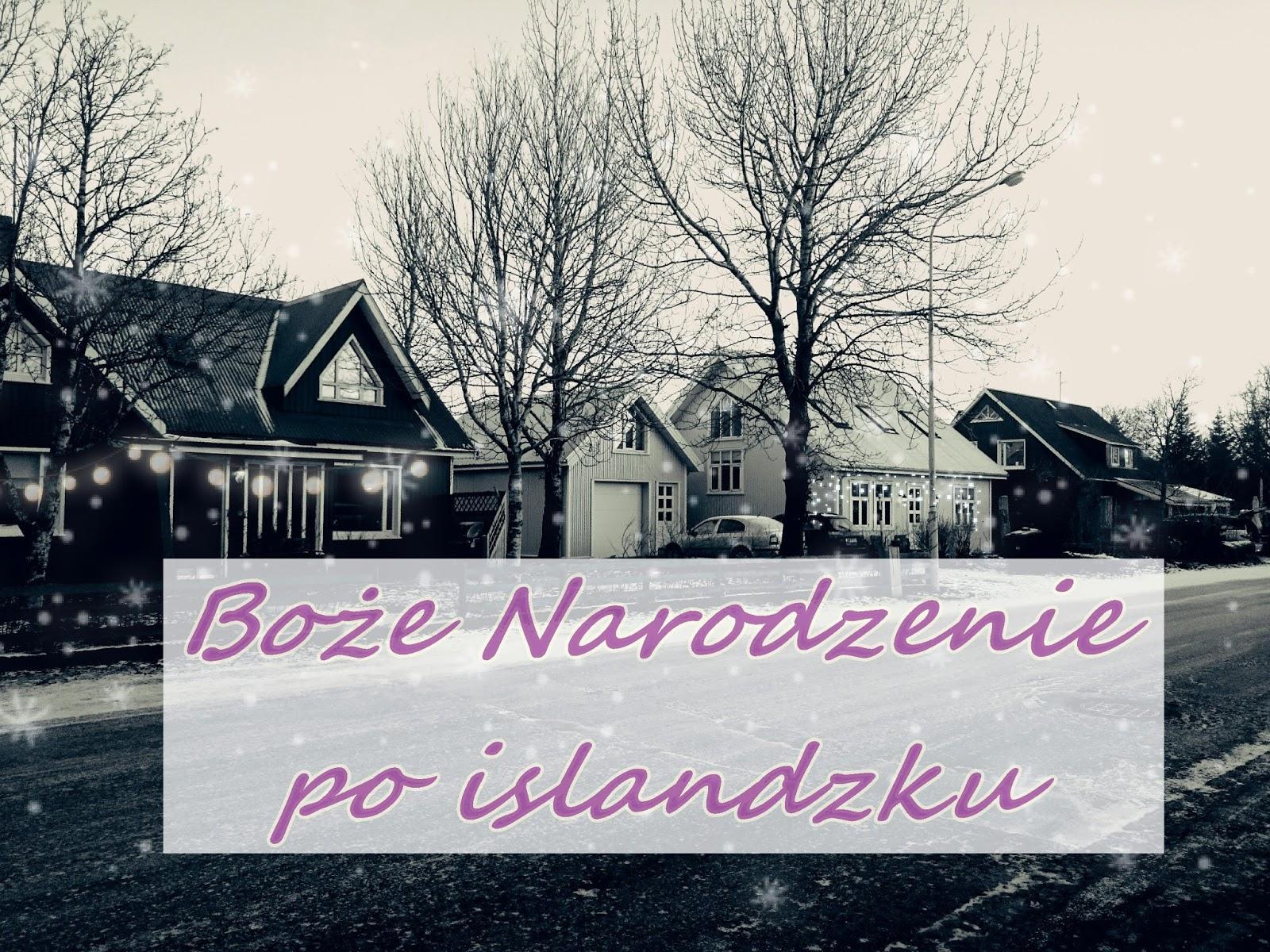 Boże Narodzenie, Święta, Islandia, zima, miasto, domy, śnieg