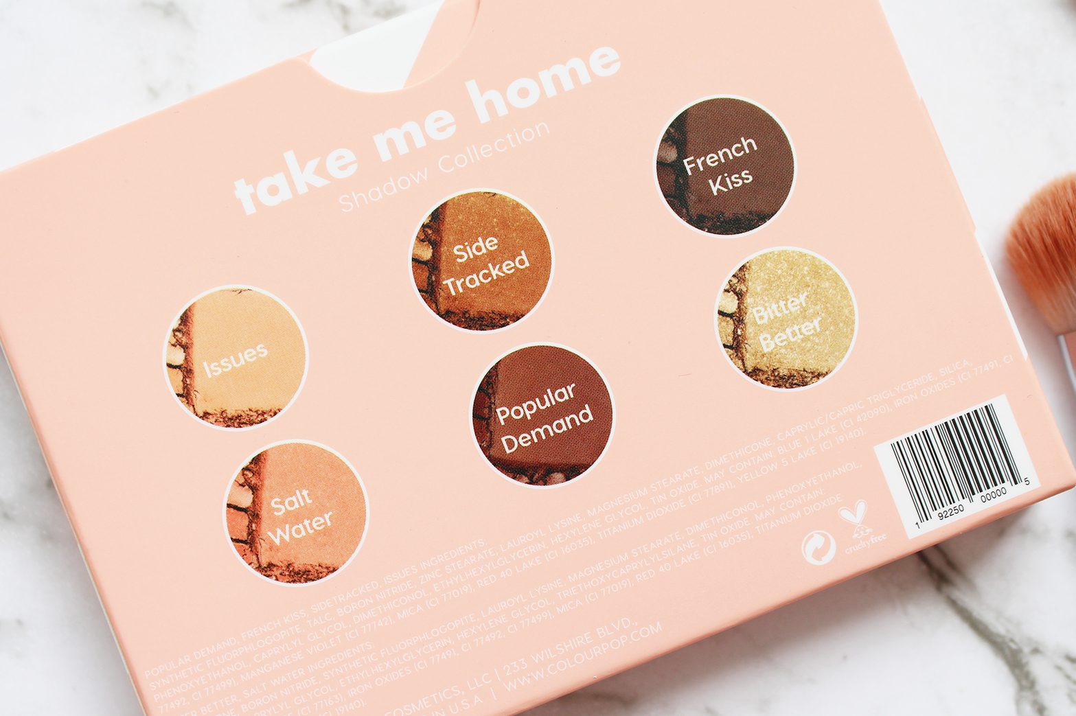 COLOURPOP | Take Me Home Mini Shadow Palette - Review + Swatches - CassandraMyee