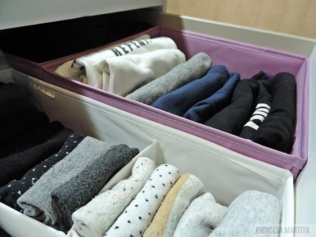 organizacja ubrań bielizna