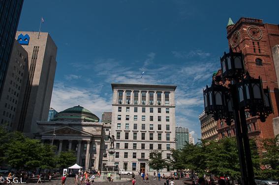 Plaza de Armas en Montreal.