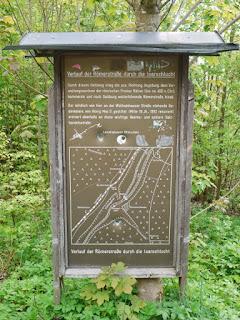 Informationstafel: Verlauf der Römerstraße durch die Isarschlucht