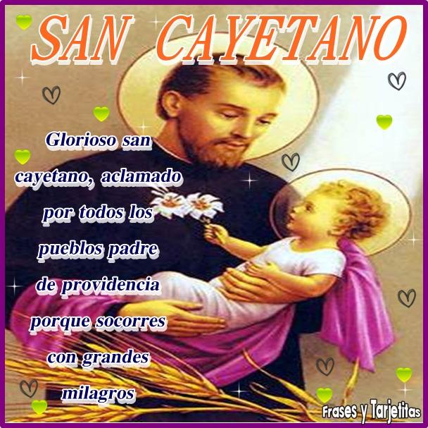 Frases Y Tarjetitas San Cayetano