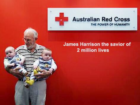 James Harrison - The 'Magic Blood Man' who has saved over 2 million babies #WATWB