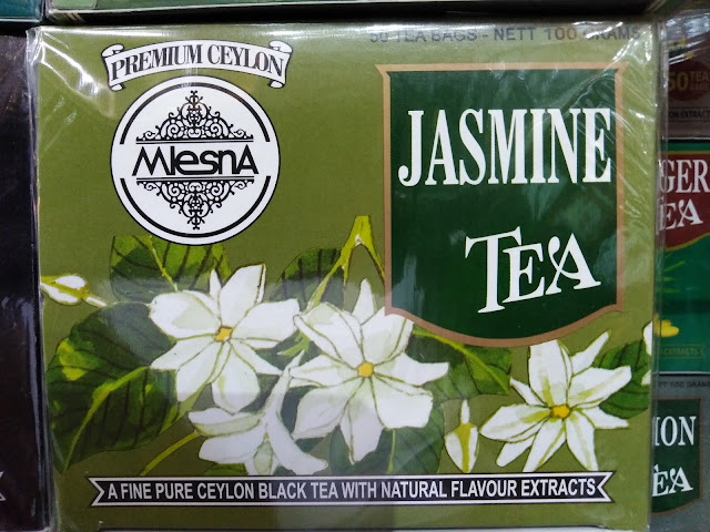 Mlesna Pure Ceylon Jasmine Black Tea with Jasmine Flavour Extracts 50 Tea Bags (100g) 1 Box.