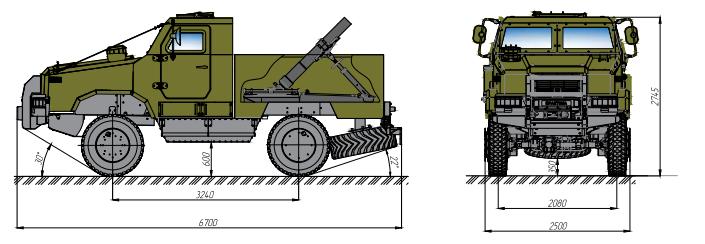 бронеавтомобіль Козак-2 міномет