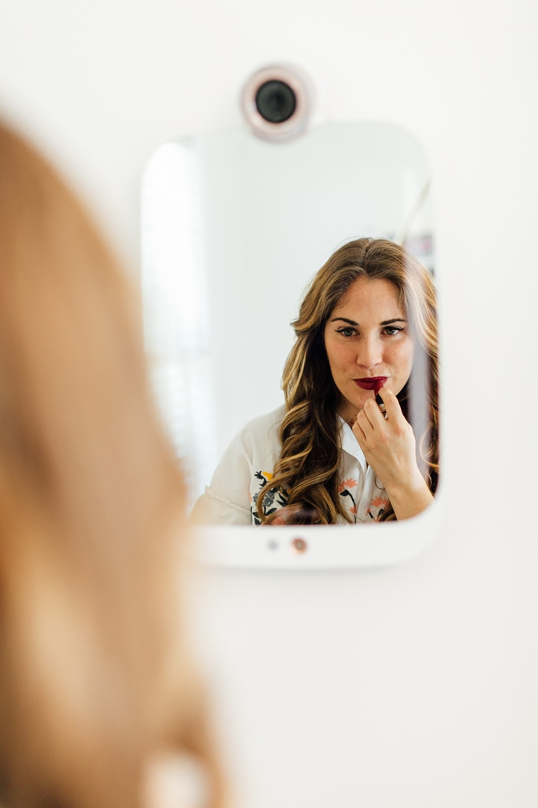 The Smart Beauty Mirror that Will Help You with Your Skincare Concerns by popular blogger Laura of Walking in Memphis in High Heels