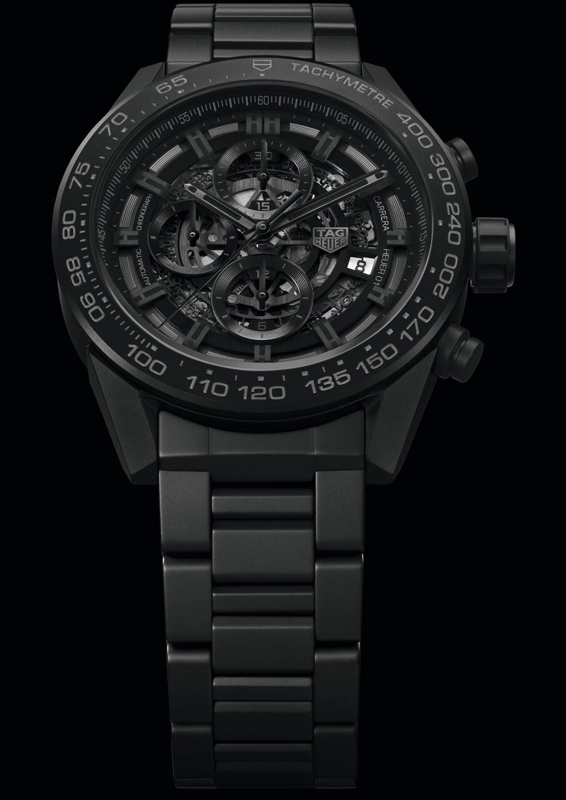 27839d17fab TAG Heuer CARRERA HEUER-01 Full Black Matt Ceramic