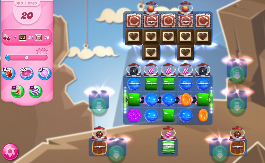 Candy Crush Saga level 6735