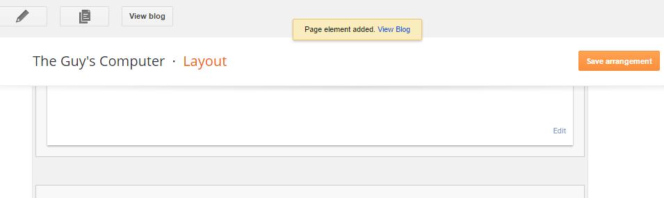 Widget added to Blog