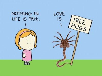 Funny Alien free hugs picture