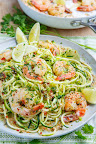 Cilantro Lime Shrimp Scampi with Zucchini Noodles