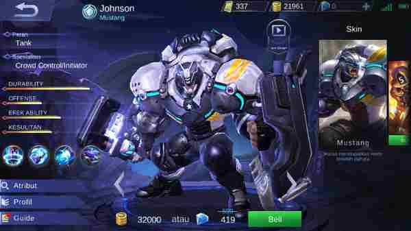 Cara Mengalahkan Johnson Mobile Legend