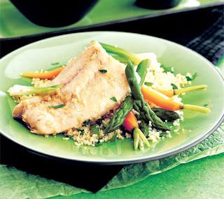 steamed fish fillets with spring vegetables recipe