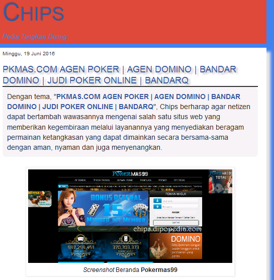 Webshot Chips Pokermas99PKMAS