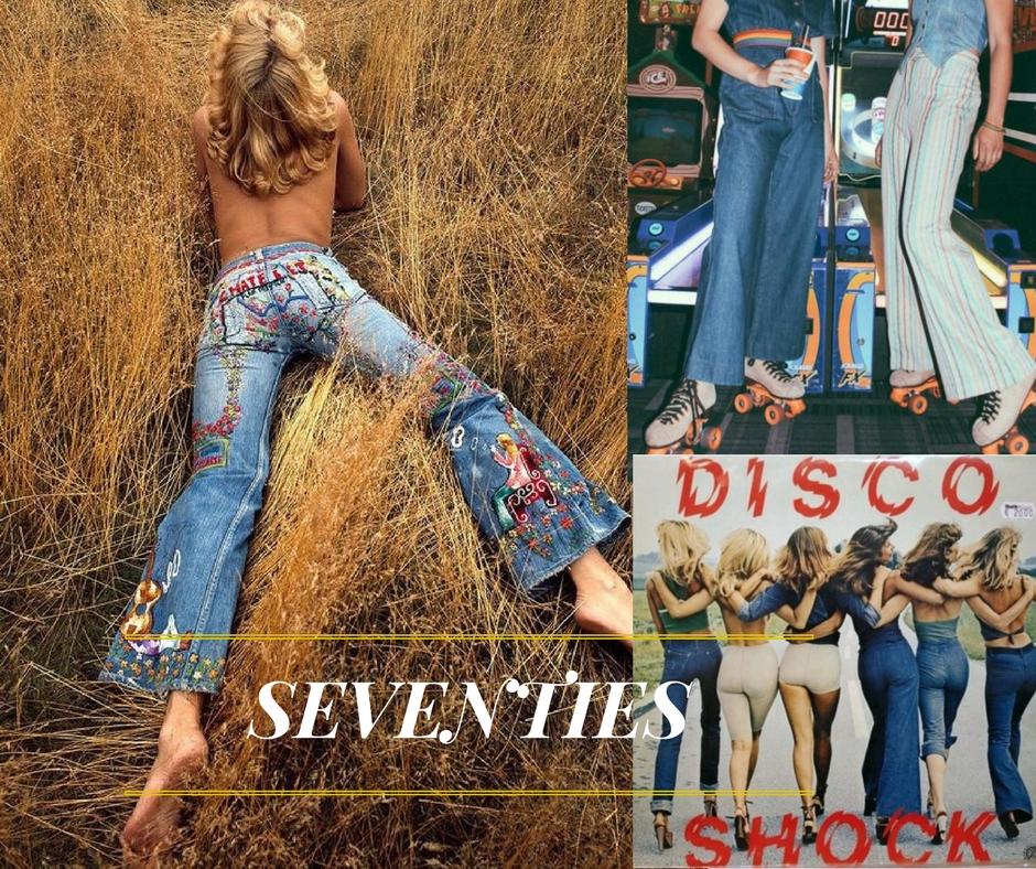 le jean un mode adopté par le style bohémien et hippie des années 70
