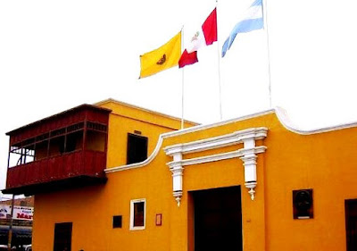 Foto del Balcón de Huaura donde se proclamó la Independencia del Perú