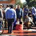 Menor quedó atrapado en pileta de plaza de armas de Purranque [Fotos]