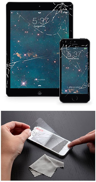 Scratched plastic phone screen protector