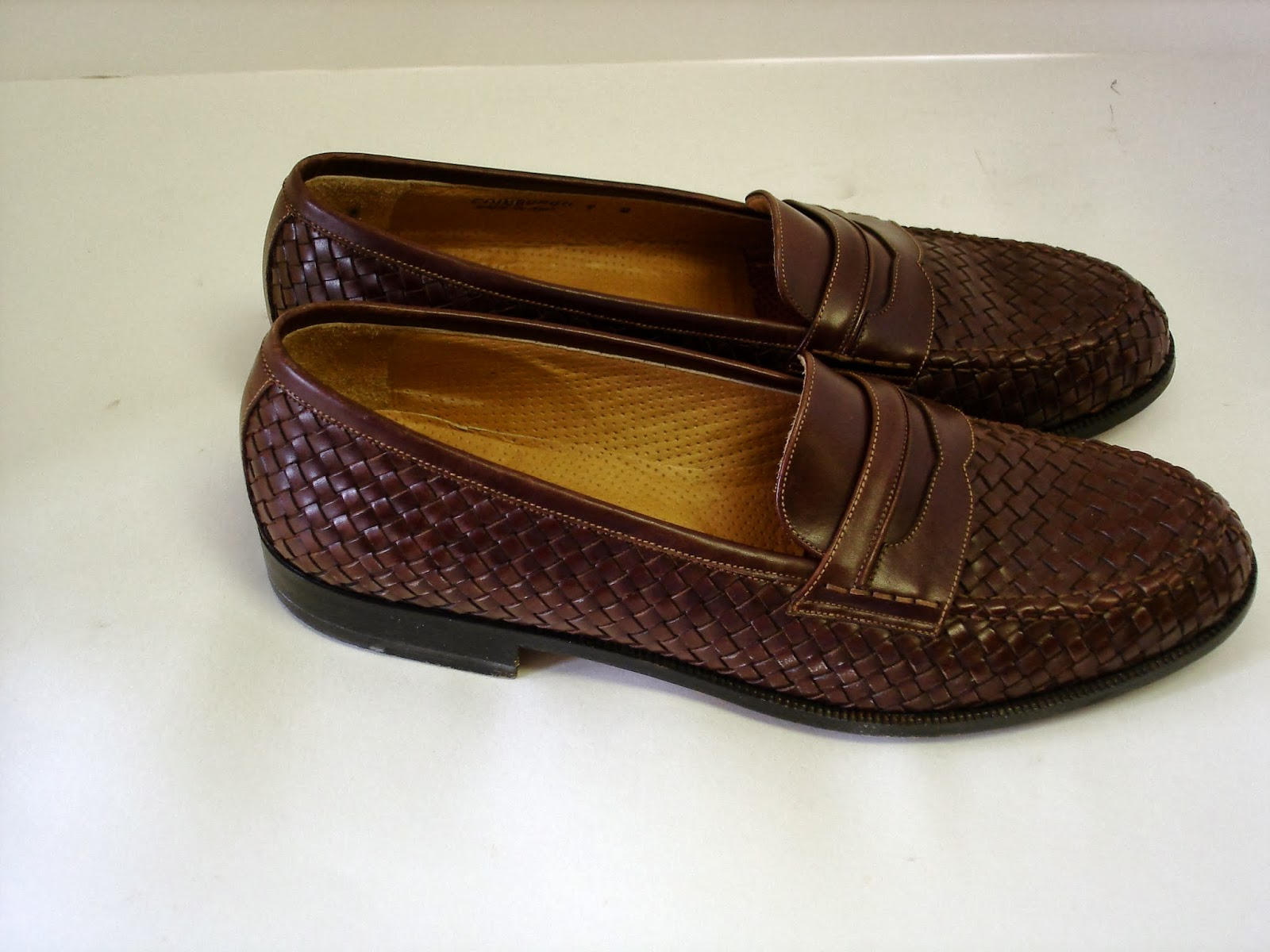 8a026acbda0d9 Still Stunning Vintage Resale: Brown Bally Woven Leather Men's ...
