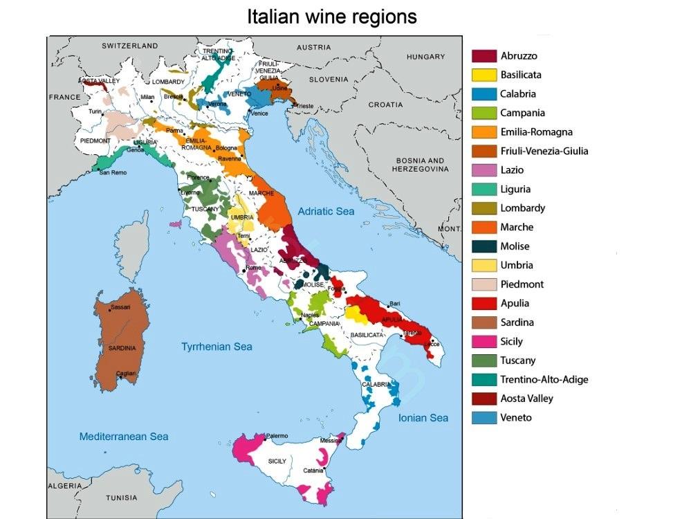 Urbina Vinos Blog Vinos de Italia por Region Uvas Clasificacin
