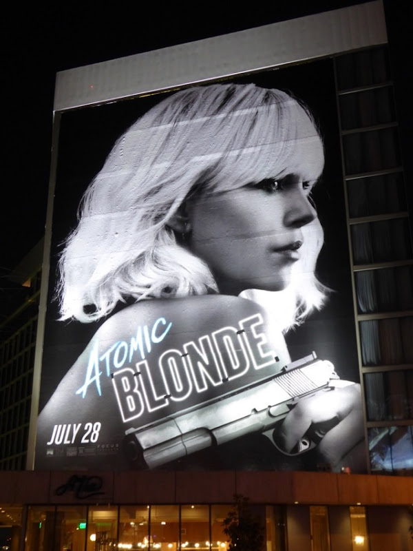Charlize Theron Atomic Blonde movie billboard