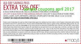 free Macy's coupons for april 2017