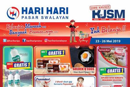 Katalog Promo Hari Hari Swalayan KJSM Weekend 23 - 26 Mei 2019