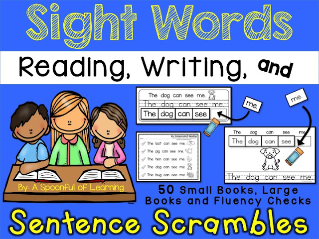 Sight Word Sentence Scrambles and FREEBIE