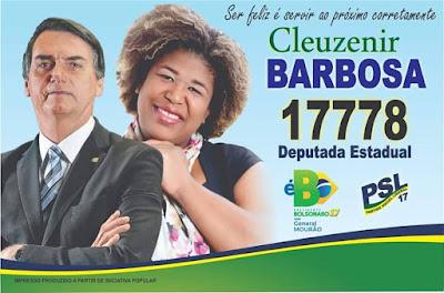 Cleuzenir Barbosa com Jair Bolsonaro