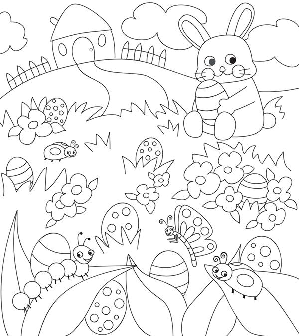 In en om die huis: Free Easter Colouring Pages