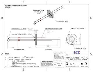 Multi-Thermocouple Vacuum Feedthrough