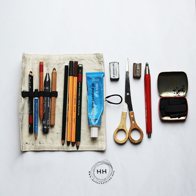 art supplies, artist tools, art inspiration, Helen Hallows, Sketchbook Conversations