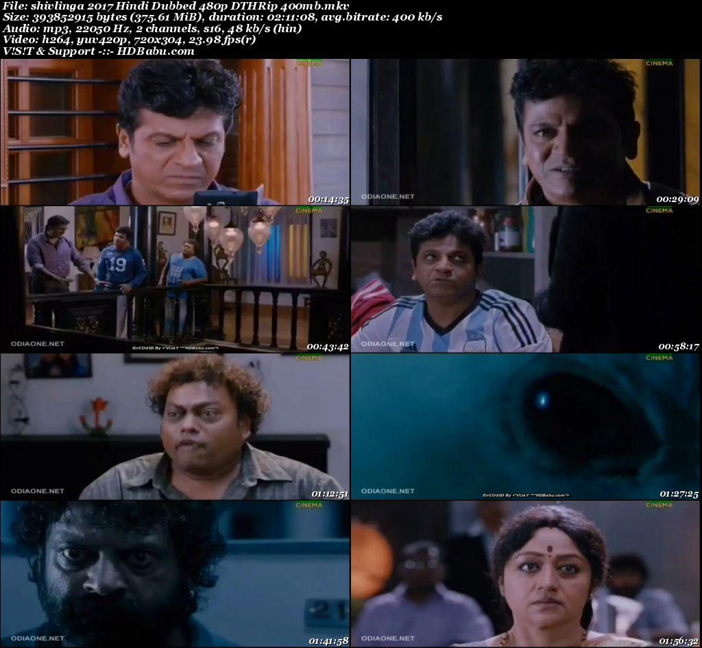 Shivlinga (2017) Hindi DTHRip 480p 400mb