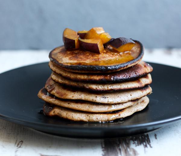 Pancakes, Kastanien-Vollkorn-Pancakes, Frühstück, Ausflug, Sonntagsausflug, Sonntag