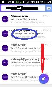 Cara menggunakan aplikasi Yahoo