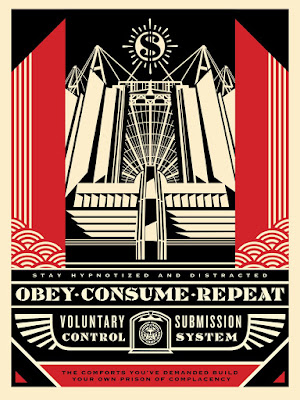 """Church of Consumption"" Obey Giant Screen Print by Shephard Fairey"