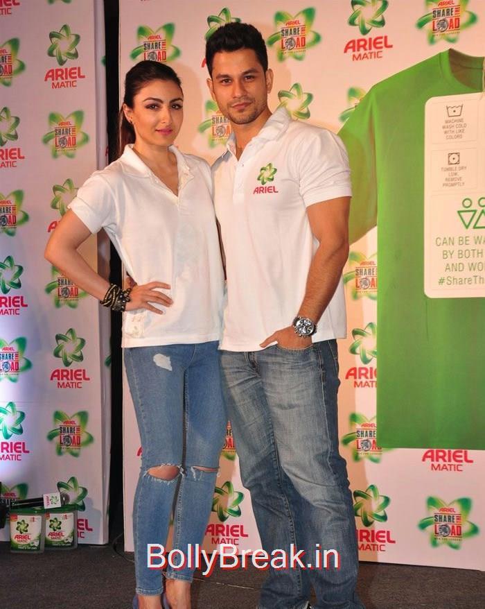 Soha Ali Khan, Kunal Khemu, Soha Ali Khan Masaba Gupta Hot Pics at Ariel Men & Women Washcare Label Launch