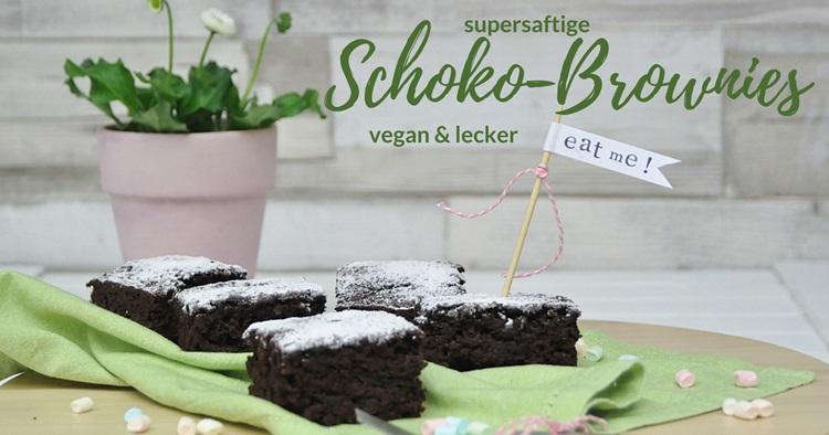 schokoladen brownies vegan rezept