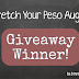 Stretch Your Peso August Giveaway Winner