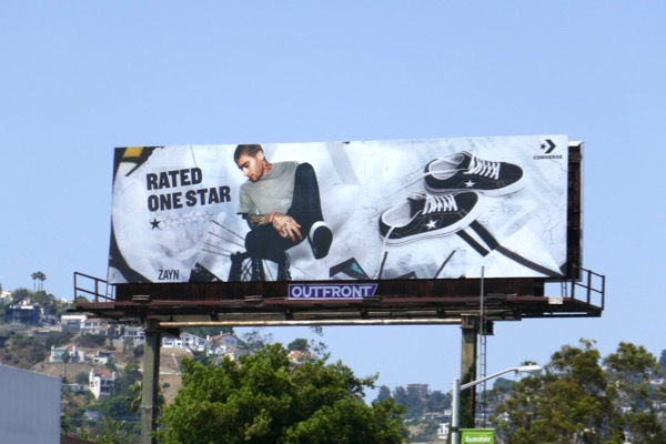 Zayn Malik Converse Rated one star billboard