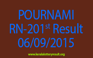 POURNAMI RN 201 Lottery Result 6-9-2015