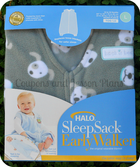cee1c07a32 Coupons and Lesson Plans  Safe Sleep For Your Early Walker ~ Halo ...