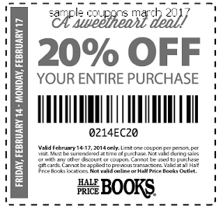 free Half Price Books coupons for march 2017